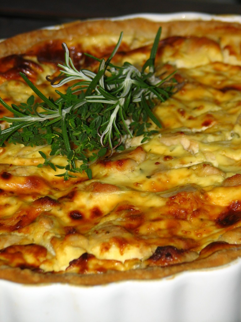 Gorgonzola & Chicken Quiche