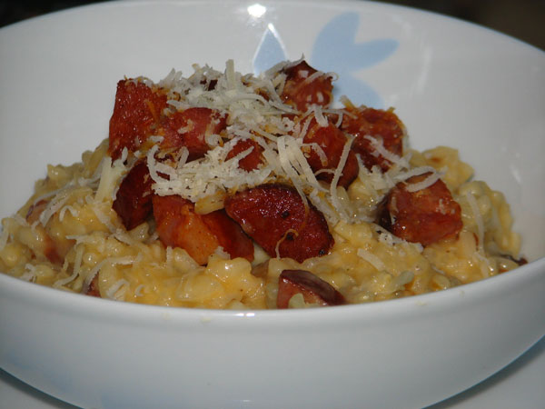 Spicy Chorizo & Calamari Risotto