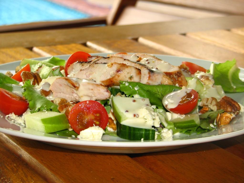 Sweet & Spicy Chicken on Sort of Waldorf Salad