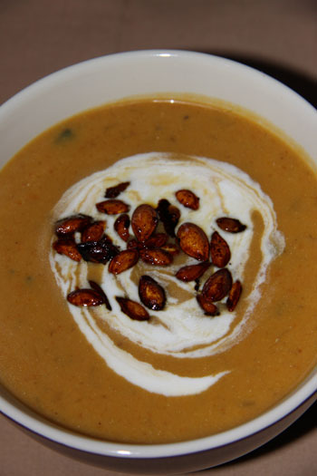 Honey Roasted Butternut & Orange soup