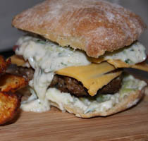 Lamb Burger with Tzatziki