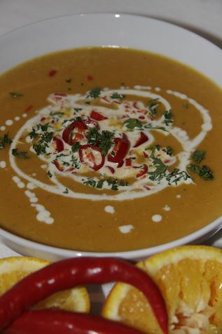 Curried Carrot & Potato soup
