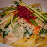 Creamy Salmon & Courgette Linguini