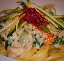 Creamy Salmon & Courgette Linguini
