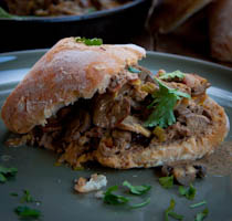 Chicken livers on Ciabatta