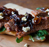 Steak Panini with Blue Cheese & Caramelised onions