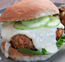 Spicy Crispy Chicken Burgers with Aioli