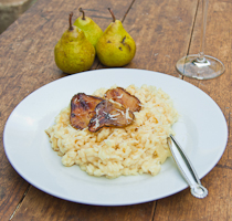 Gorgonzola & Pear Risotto with Candied Pears