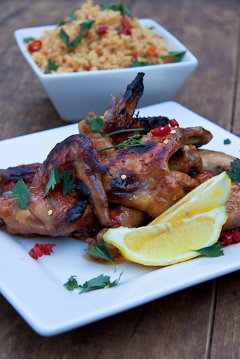 Sticky Asian Chicken with Fried Rice