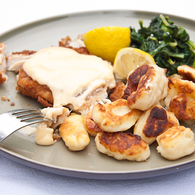 Fried Gnocchi (Nigella Lawson's Rapid roastini)