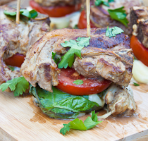 Caprese Lamb Stacks