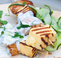 Donna Hay's Chicken & Haloumi Skewers