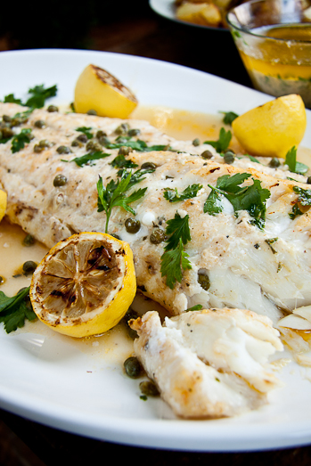 Baked fish with Lemon Butter