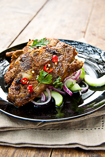 Indian spiced lamb chops with cucumber salad simply delicious indian spiced lamb chops with cucumber salad forumfinder Gallery