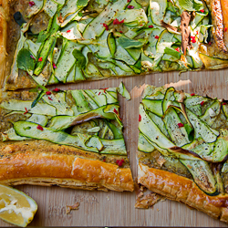 Pesto & Zucchini Tart