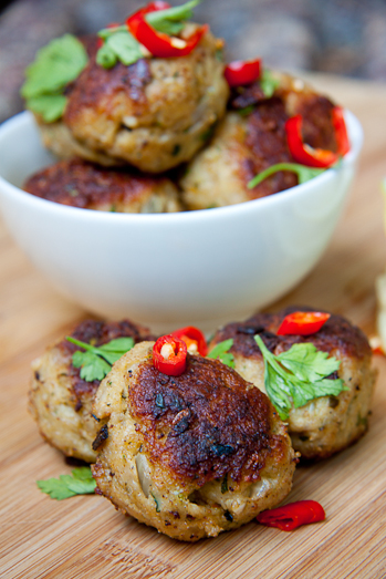 Chilli-Chicken Meatballs