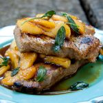 Pork steaks with Sautéed Apples and Sage
