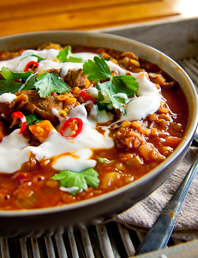 Spicy Lamb & Lentil Soup