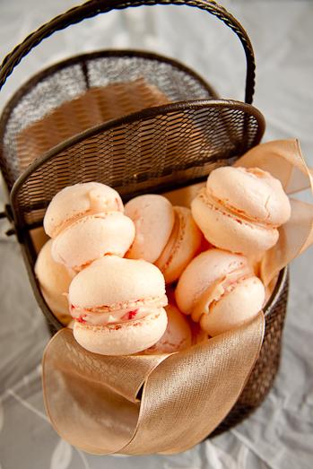 White Chocolate & Raspberry Macarons