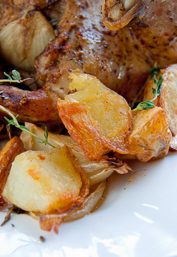Roast Chicken with Duck Fat Roast Potatoes