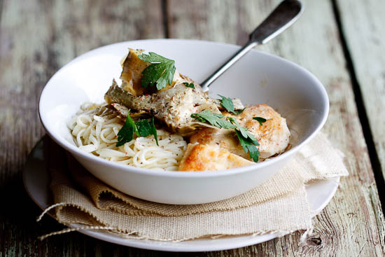 Chicken With Artichokes And Angel Hair Recipes — Dishmaps