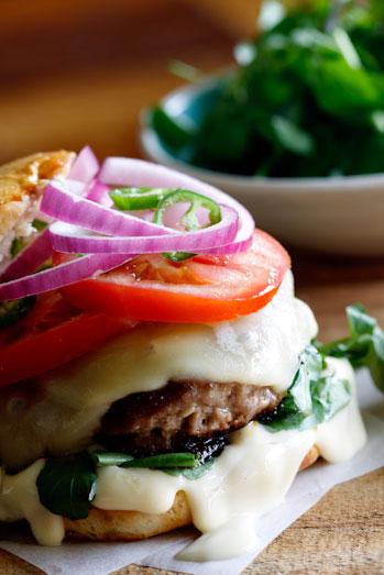 Lamb & Hummus Burger