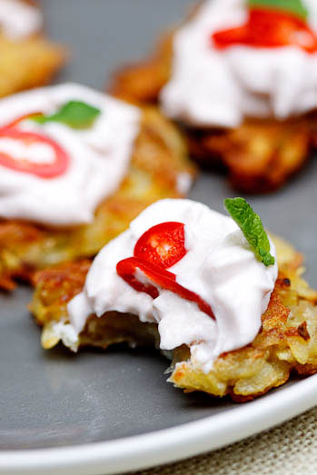 Potato Rosti with Taramosalata