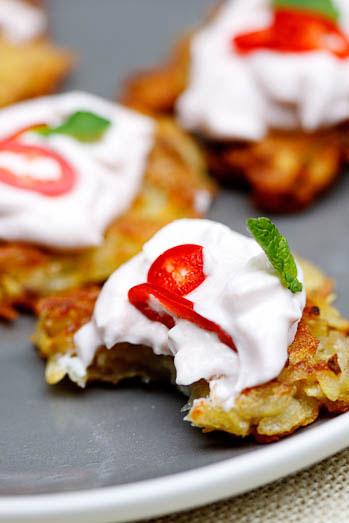 Potato Rosti with Taramosalata