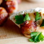 Pork meatballs with Jalapeño dip & pita breads