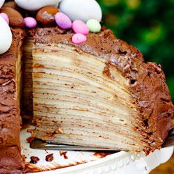 Chocolate-Amarula Crepe Cake