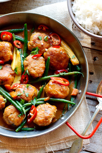 Thai Chicken Meatball curry