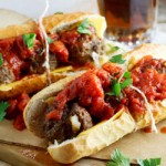 Meatball Sub with spicy tomato relish6
