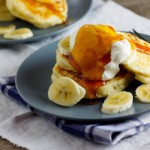 Quick and easy pancakes with Banana, Honey & Low-Fat yoghurt