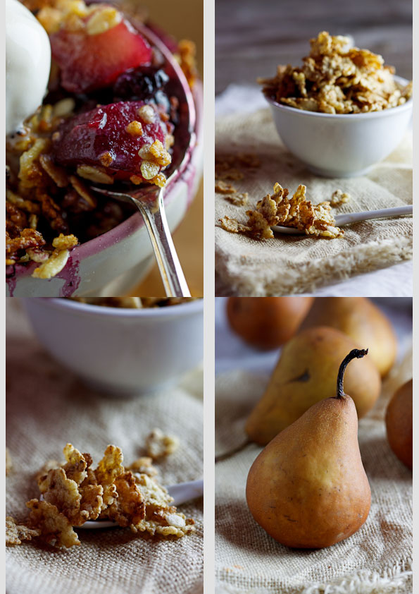 Pear & Blueberry Crumble