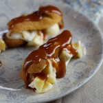 Mini eclairs with Salted Caramel & Fresh Banana