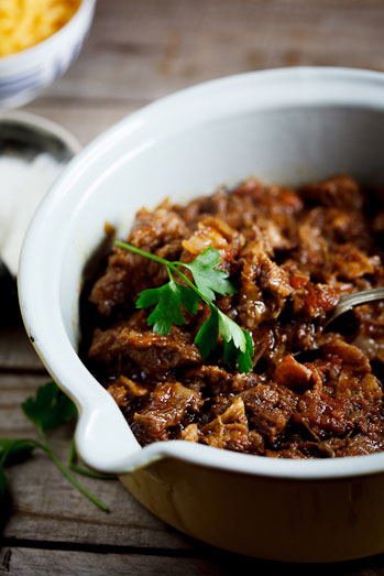 Slow-Cooked Beef brisket chili