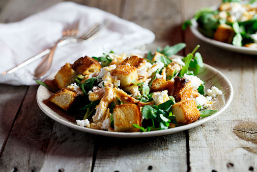 Left-over roast chicken salad
