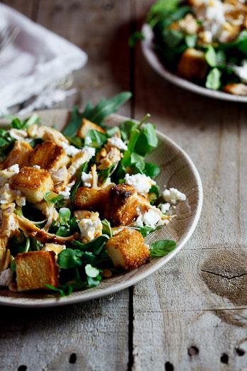 Left-over roast chicken salad