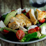 Pecorino crumbed chicken saladPecorino crumbed chicken salad