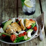 Pecorino crumbed chicken salad