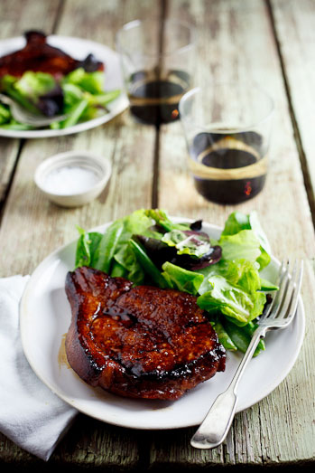 Sticky Honey & Soy Pork Chops