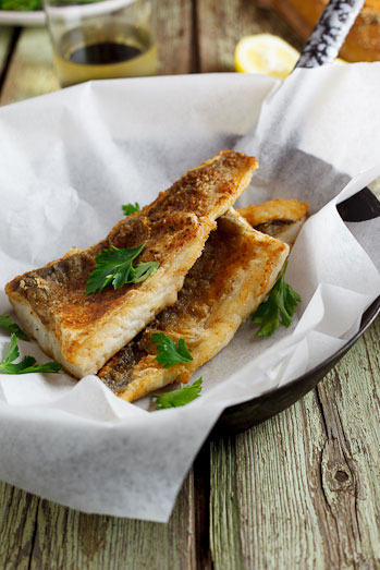 Pan-fried fish with lemon-cream sauce & capers - Simply ...