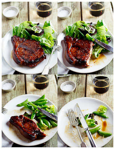 Sticky Honey & Soy Pork Chops