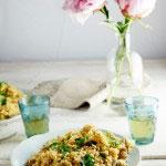 Chicken pilaf with pistachios & lemon