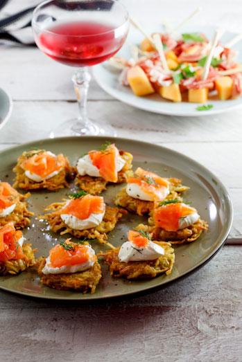 Rösti with Smoked Salmon with cream cheese