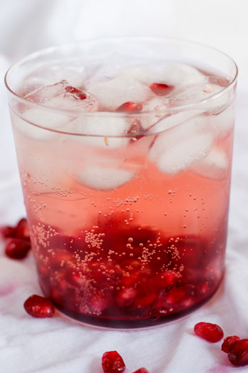 Rosé wine Spritzers with Pomegranate