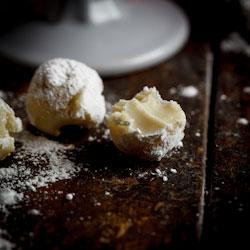 White Chocolate Cigar truffles