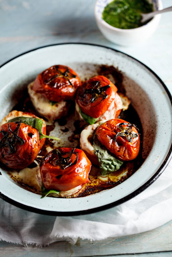 Roasted Caprese tomatoes