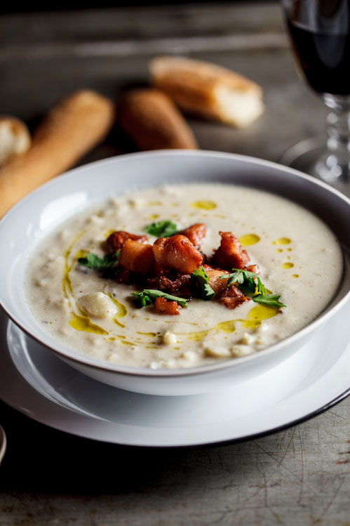 Roasted cauliflower & Truffle soup