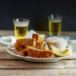 Chunky fish fingers with cheat's lemon aioli